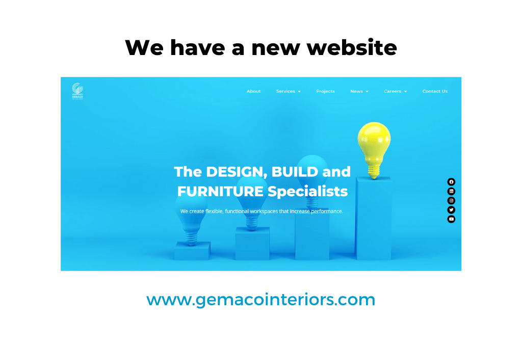 Gemaco Interiors - New Website 2020