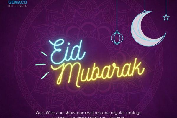 Eid Mubarak from Gemaco Interiors UAE